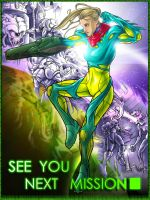 Fusion Samus Poster by AIBryce