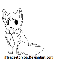 tie puppy template by iHeadsetShiba