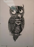 Owl Relief Print by ska25