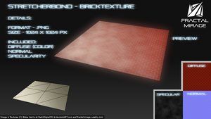 Stretcher Bond - Brick Texture #3 by MatchSignal3D