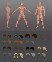 Male body and haircuts concepts by KR0NPR1NZ