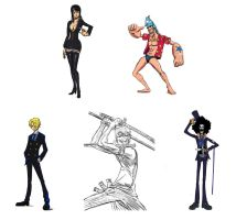 One piece sketches by Vimes-DA