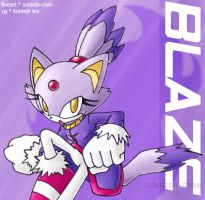 CG: Blaze the Cat by SLiDER-chan