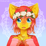 Flower crown by LiaBorderCollie