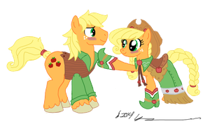 AJ and AJ at the Gala by StagetechyArt