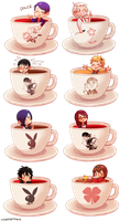 TOKYO GHOUL TEACUPS by Sydesu