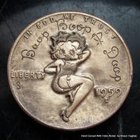 Hand Carved Cent Betty Boop Hobo Nickel by Shaun by shaun750
