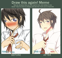 DRAW THIS AGAIN MEME by beastofdesire