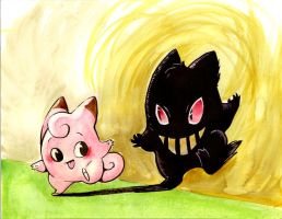 Clefairy and Her Shadow by MittyMandi