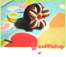 Cookie cake ponytail holder by coffishop