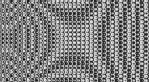 black and white distorted pattern  01 by KirstenStar