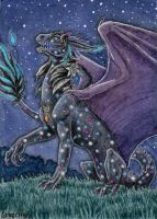 ACEO for Aishila,  Star Dragoness by Strecno