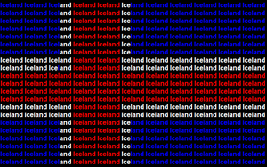 Iceland name flag by ABtheButterfly