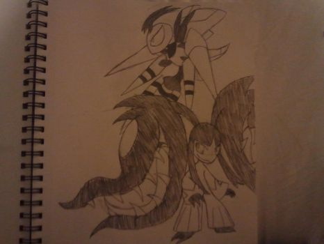 Mega Beedrill and Mawile by SleeplessNight10
