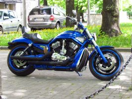 Blue motorcycle by B-219