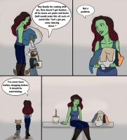 Rocket goes Clothes Shopping: Page1 of 5 by Trying2FanFiction