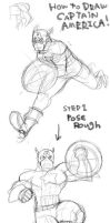 HOW TO DRAW CAPTAIN AMERICA by RyusukeHamamoto