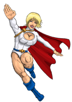 Power Girl again by Agent-Foo