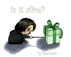 A present for Snape-santagro by snapefanclub