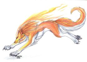 Fire Wolf by DRagonka