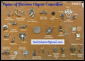 GAME OF THRONES Themed Pewter Charms by maryfaithpeace