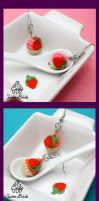 Strawberry Cupcake Earrings by TwineBirds