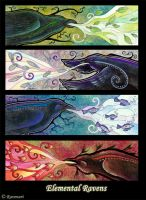 Elemental Ravens by Ravenari