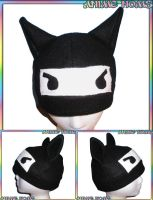 Anime Ninja Kitty Hat by AnimeNomNoms