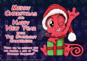 Merry Christmas from The Standout Chameleon by MysteryEzekude
