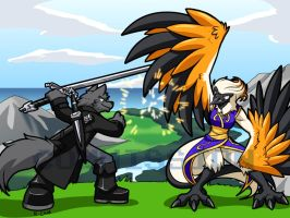 Sword vs Feathers for Ucrodevil by rongs1234