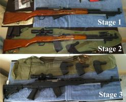 SKS rifle upgrade stages by dirtbiker715