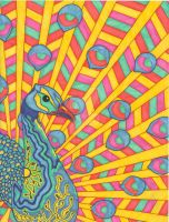 Psychedelic Peacock by dylanmark