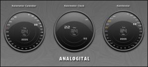Analogital Rainmeter by Nylons
