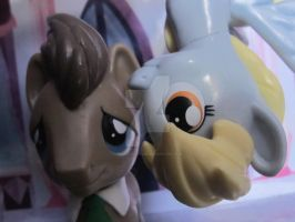 derpy and doctor whooves selfie by cartoonfan88