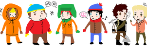 southpark chibis by battlescar