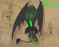 OC-Ryuu, Reference by LycanthropeHeart