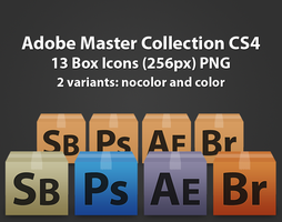 Adobe Master CS4 Box Icons by borislav-dakov