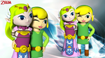 The Triforce couple: Windwaker version by 4wearemanytoo