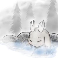 Jakalope in a hotspring by GNGTNT105