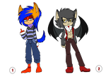 .:Sonic Adoptables 01 n' 02:. [CLOSE] by Zapitoow
