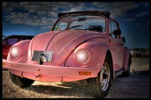 Pink car by jacqueliine