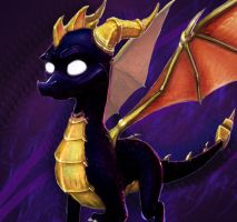 Dark Spyro 1 by Shadowpredator100