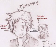 Flensburg and North Frisia by Meloni-chan