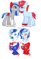 Coloured Canvas ? Foals .:Breedable Entry:. by kikiwolfluver
