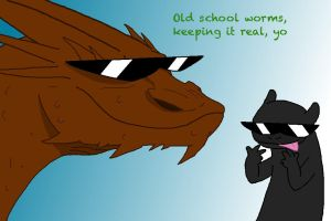 Smaug n Toothless by GojiraG