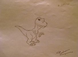 ParaVerse - Baby T-Rex by AaronThomason
