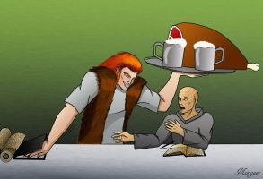 Leman Russ and Lorgar *It`s break time!* by Morgaer
