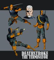 DEATHSTROKE THE TERMINATOR ANIMATED by CHUBETO