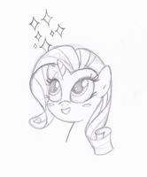 Rarity sparkle by MermaidSoupButtons