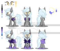 Lillet Blanc Character reference sheet by Wicklesmack